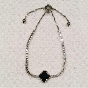 Swarovski Black Clover Slide Bracelet